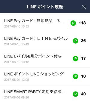 LINEPayカードのポイント